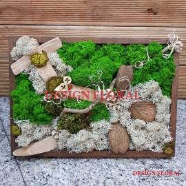 """Tablou cu licheni """" Wood"""""""