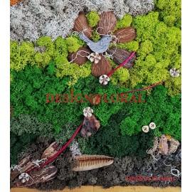 """Tablou cu licheni """" The Bird"""""""