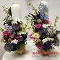 Lumanari nunta flori de camp