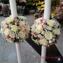 Lumanari nunta minirose