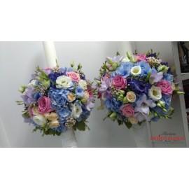 Lumanari nunta mix floral