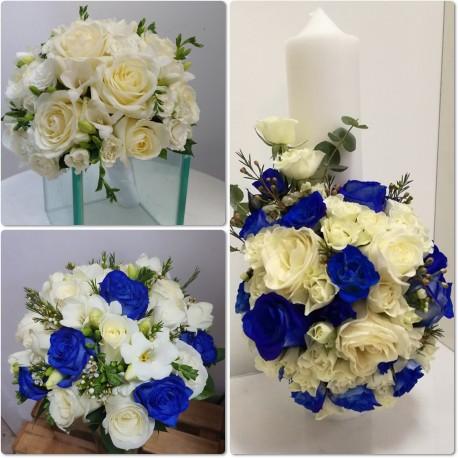 Pachet nunta trandafiri si frezii