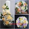 Pachet nunta trandafiri si minirose