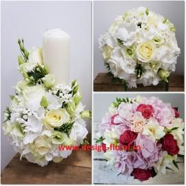 Pachet nunta hortensii albe