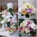 Pachet nunta orhidee si trandafiri