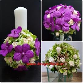 Pachet de nunta orhidee Vanda