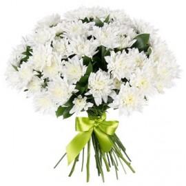 Buchet floral crizanteme albe