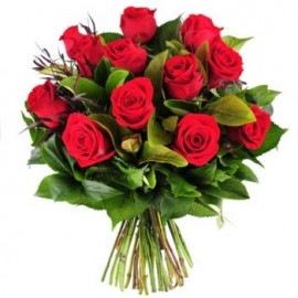 Buchet floral 11 trandafiri rosii