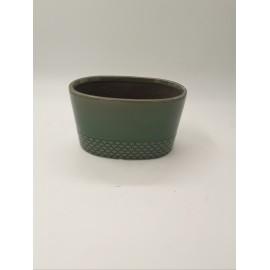 Vas ceramica verde