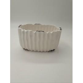 Vas ceramica alb