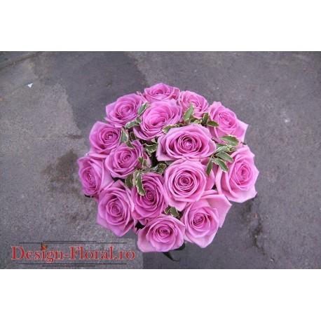 Buchet mireasa trandafiri Aqua
