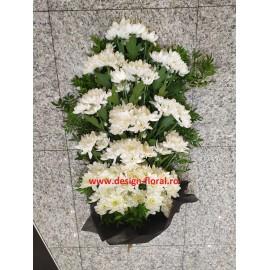 Buchet funerar crizanteme albe
