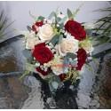 Buchet mireasa din trandafiri rosii