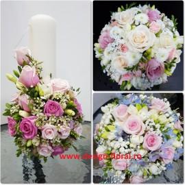Pachet nunta in tonuri de roz