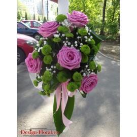 Lumanare botez trandafiri si Santini