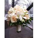 Buchet mireasa orhidee si trandafiri