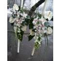Lumanari nunta Anthurium si orhidee
