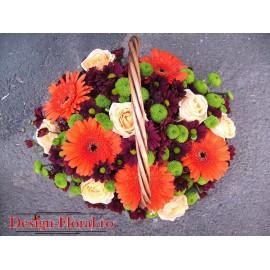 Cos cu flori mixte