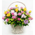 Cos floral din flori mixte