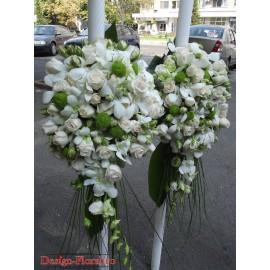 Lumanari de nunta orhidee si minirose