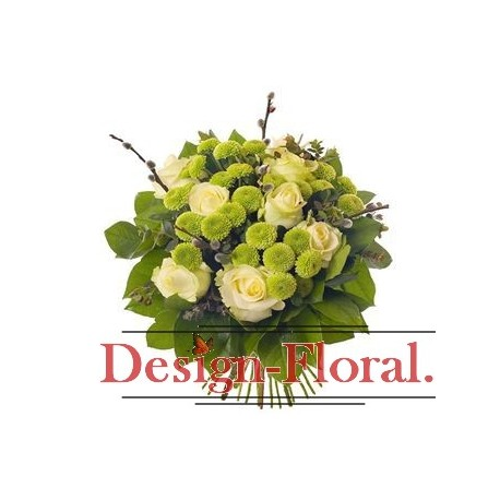 Buchet trandafiri si santini
