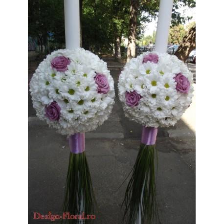 Lumanari nunta margarete si trandafiri