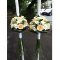 Lumanari nunta frezii si trandafiri