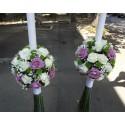 Lumanari de nunta trandafiri
