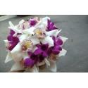 Buchet mireasa mix orhidee