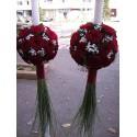 Lumanari nunta trandafiri rosii