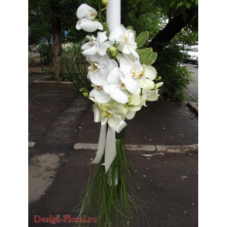 Lumanare botez orhidee Phalaenopsis