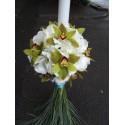 Lumanari glob nunta Hortensie si orhidee