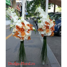 Lumanari nunta Phalaenopsis si Hortensie