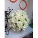 Buchet mireasa trandafiri si Santini