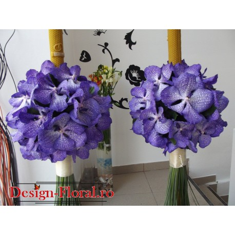 Lumanari nunta orhidee Vanda