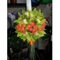 Lumanare botez minirose si orhidee