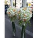 Lumanari nunta glob orhidee si trandafiri