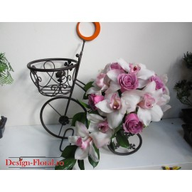 Buchet mireasa curgator orhidee imperiala