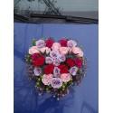 Aranjament masina din trandafiri