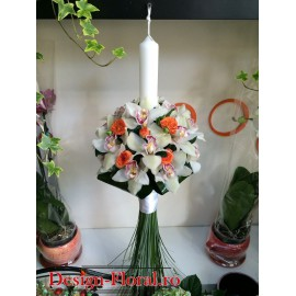 Lumanare botez orhidee