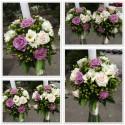 Lumanari nunta trandafiri, frezii si Hypericum